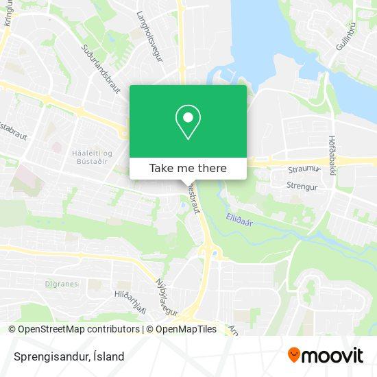 Sprengisandur map