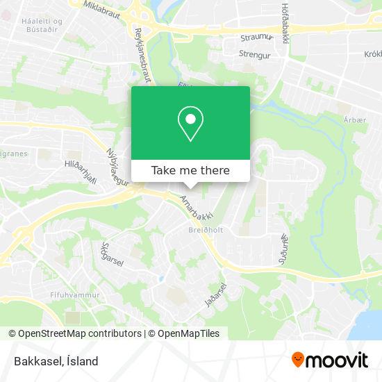 Bakkasel map