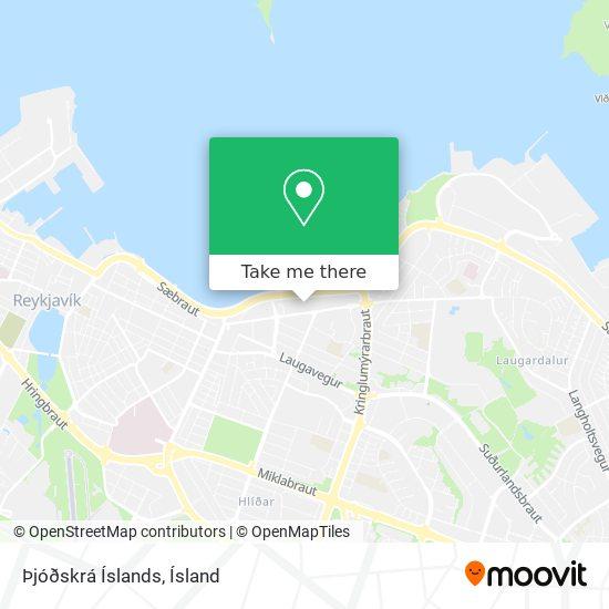 Þjóðskrá Íslands map