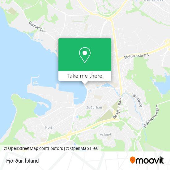 Fjörður map