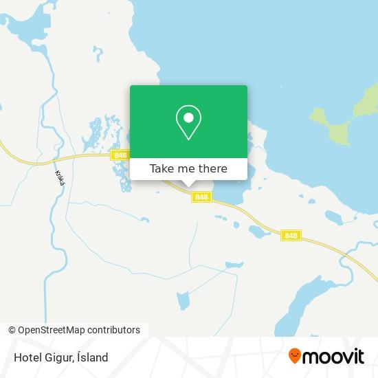Hotel Gigur map