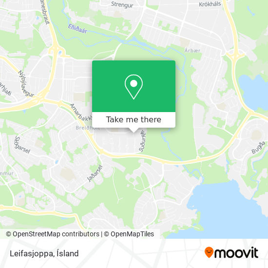 Leifasjoppa map