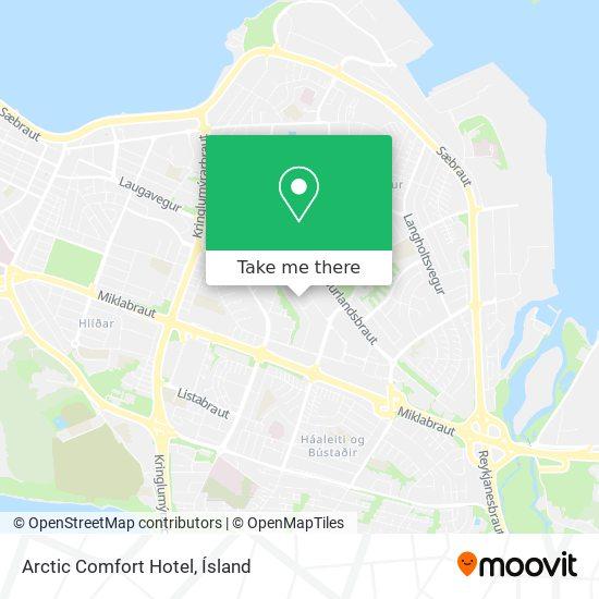 Arctic Comfort Hotel map
