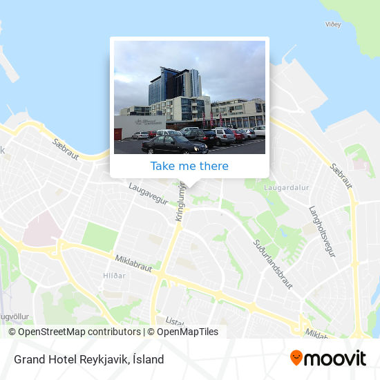 Grand Hotel Reykjavik map