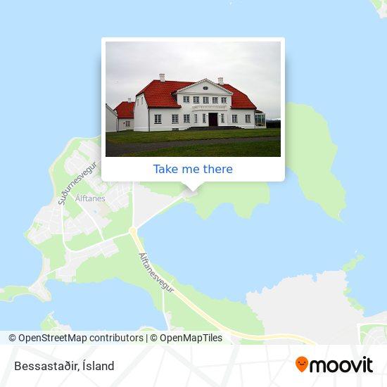 Bessastaðir map