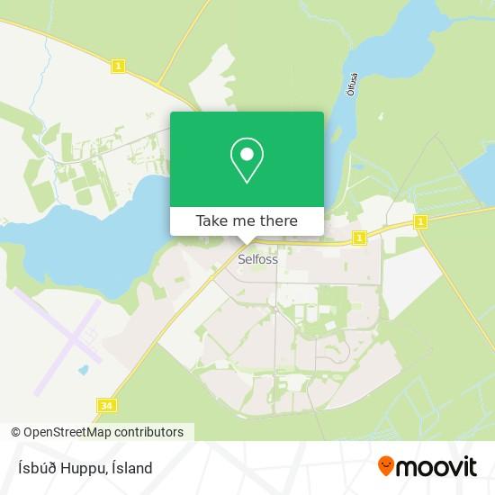 Ísbúð Huppu map