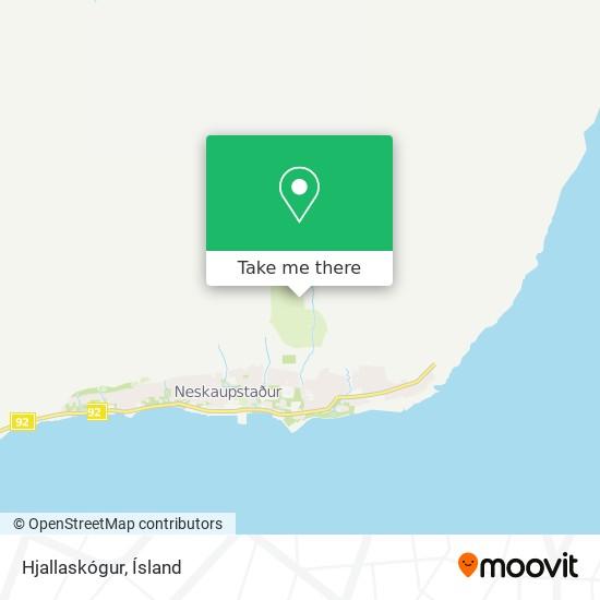 Hjallaskógur map