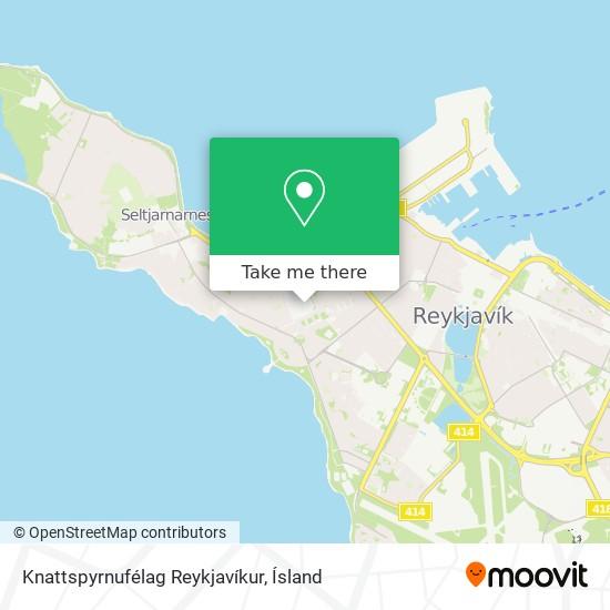 Knattspyrnufélag Reykjavíkur map