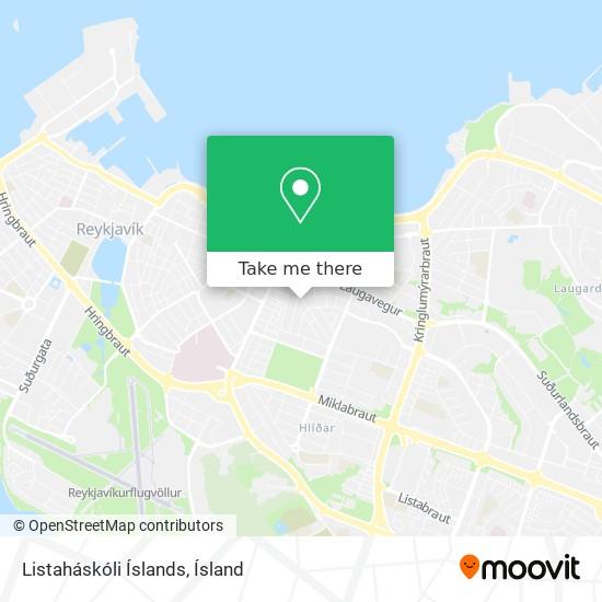 Listaháskóli Íslands map