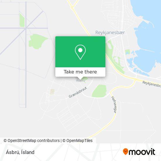 Ásbrú map