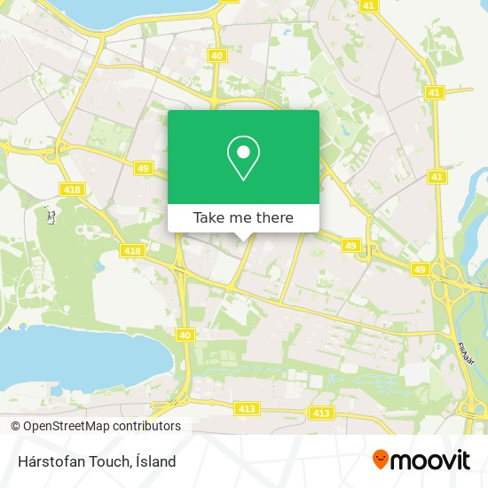Hárstofan Touch map