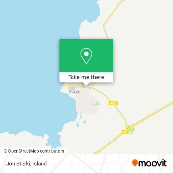 Jón Sterki map