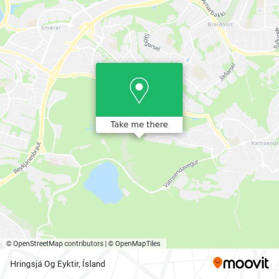 Hringsjá Og Eyktir map