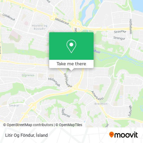 Litir Og Föndur map