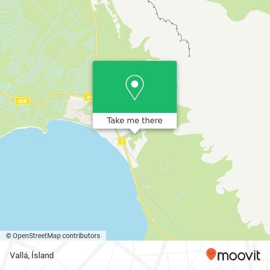 Vallá map