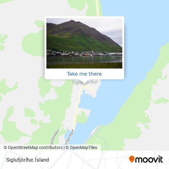 Siglufjörður map
