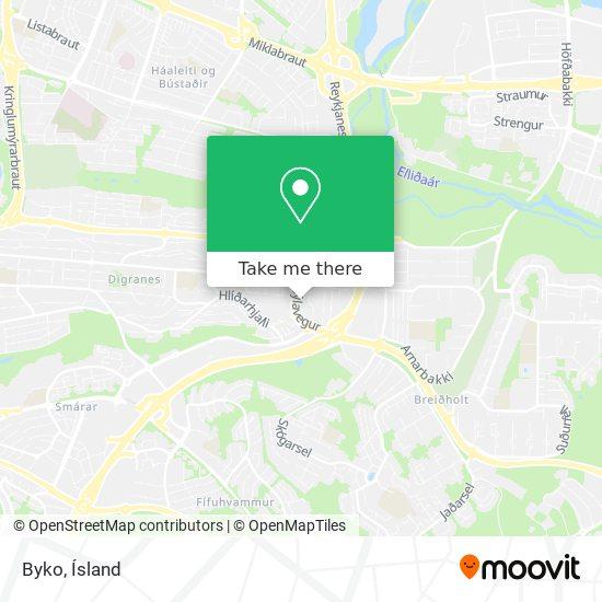 Byko map