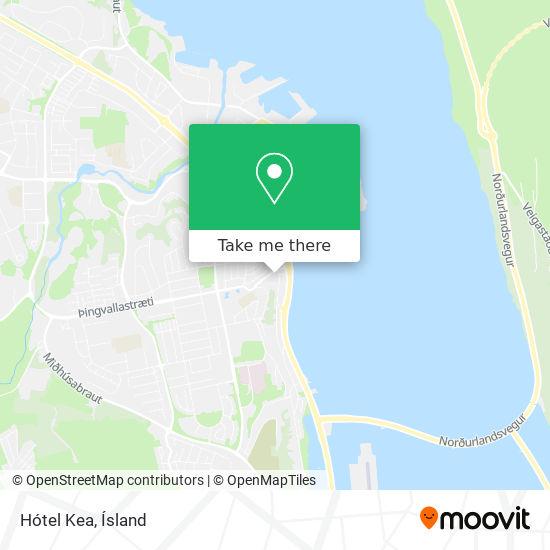 Hótel Kea map