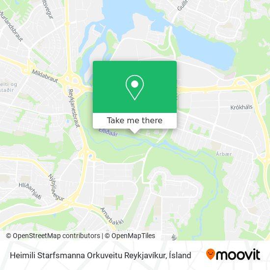 Félagsheimili Orkuveitu Reykjavíkur map