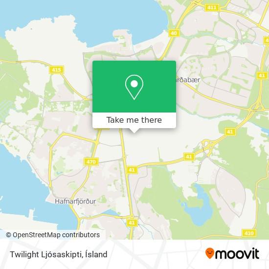 Twilight Ljósaskipti map