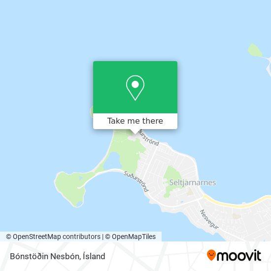 Bónstöðin Nesbón map