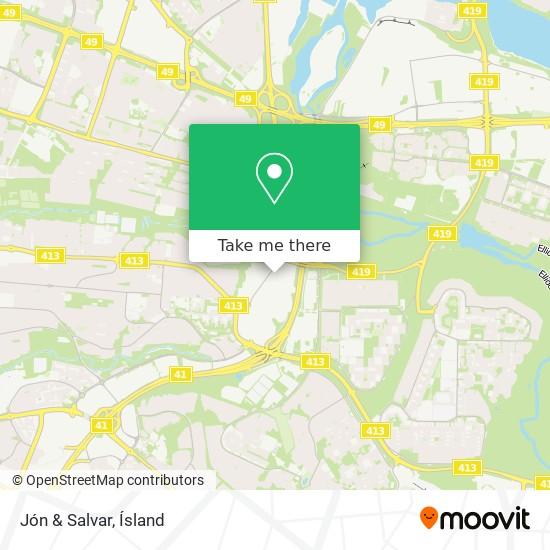 Jón & Salvar map