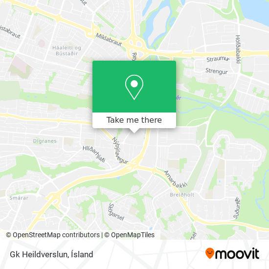 Gk Heildverslun map