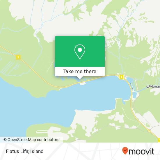 Flatus Lifir map