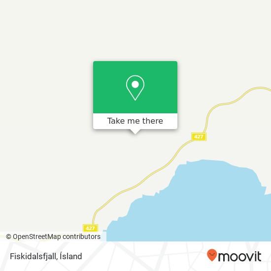Fiskidalsfjall map