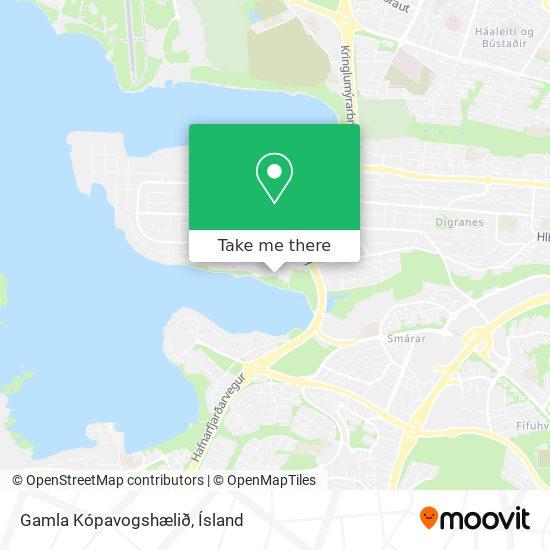 Gamla Kópavogshælið map