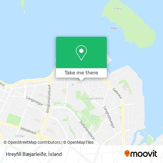 Hreyfill Bæjarleiðir map