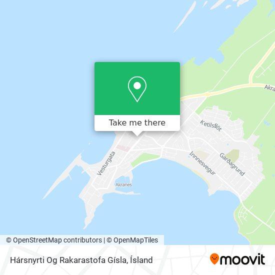 Hársnyrti Og Rakarastofa Gísla map