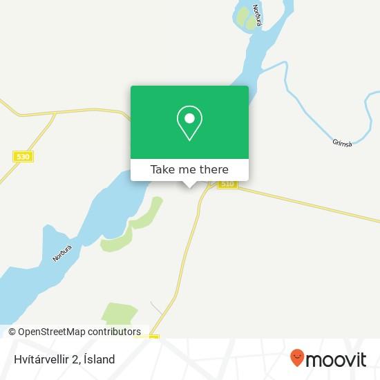 Hvítárvellir 2 map