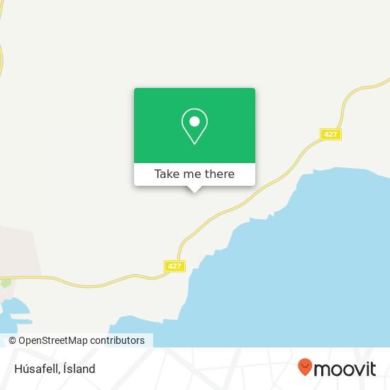 Húsafell map