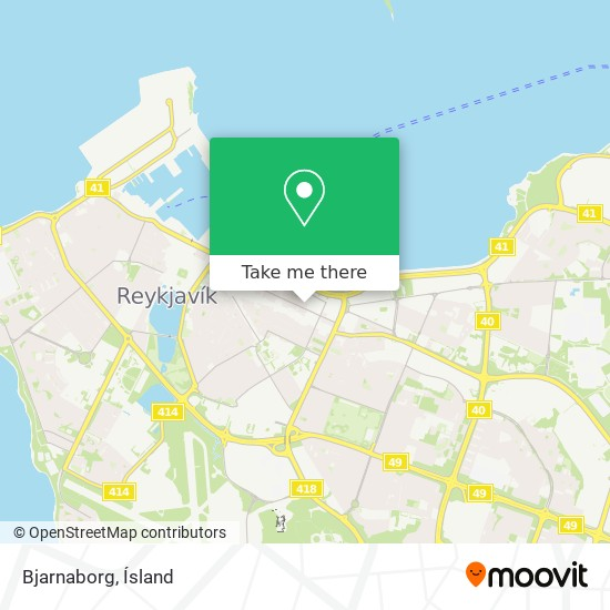 Bjarnaborg map