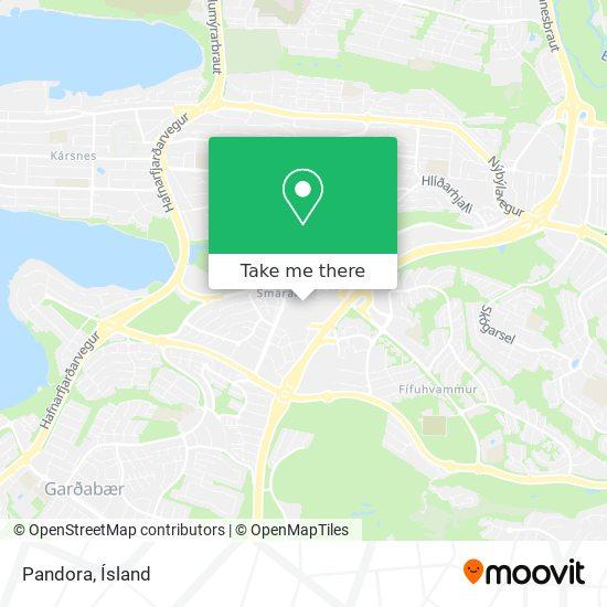 Pandora map