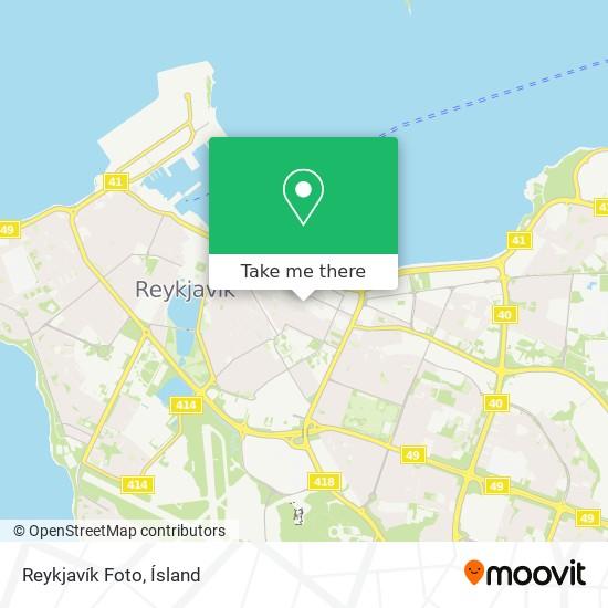 Reykjavík Foto map