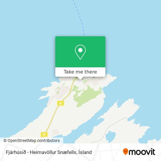 Fjárhúsið - Heimavöllur Snæfells map