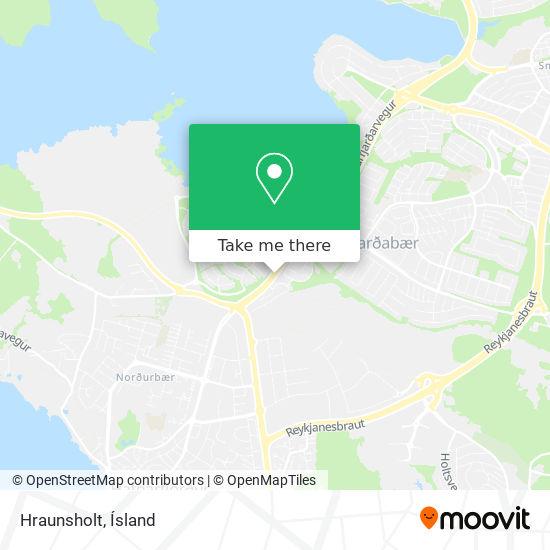Hraunholt map