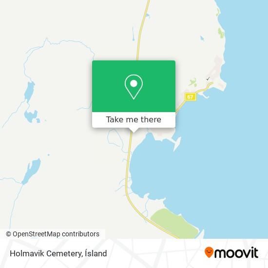 Holmavik Cemetery map
