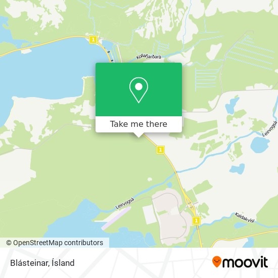 Blásteinar map