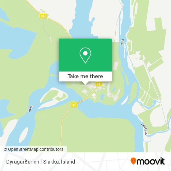 Dýragarðurinn Í Slakka map