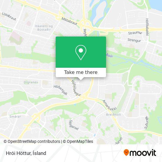 Hrói Höttur map