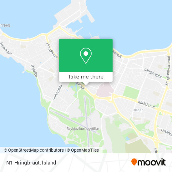 N1 Hringbraut map