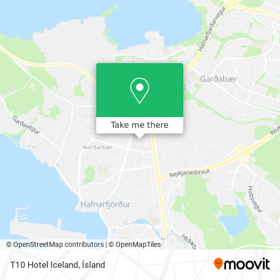 T10 Hotel Iceland map