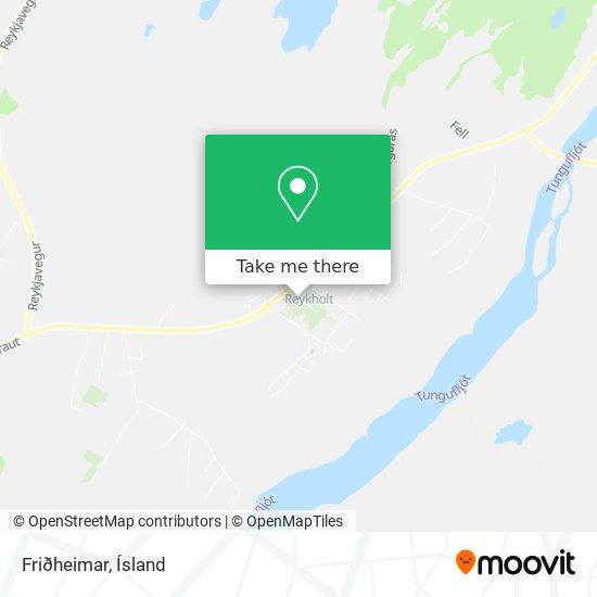 Friðheimar map