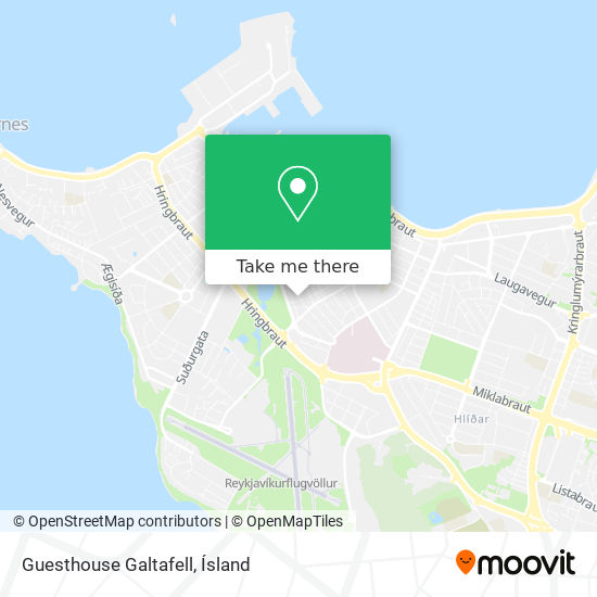 Guesthouse Galtafell map