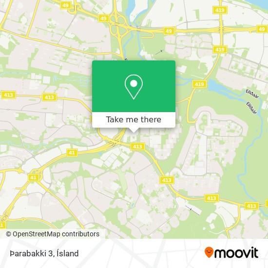 Þarabakki 3 map