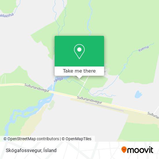Skógafossvegur map