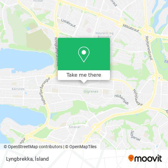 Lyngbrekka map